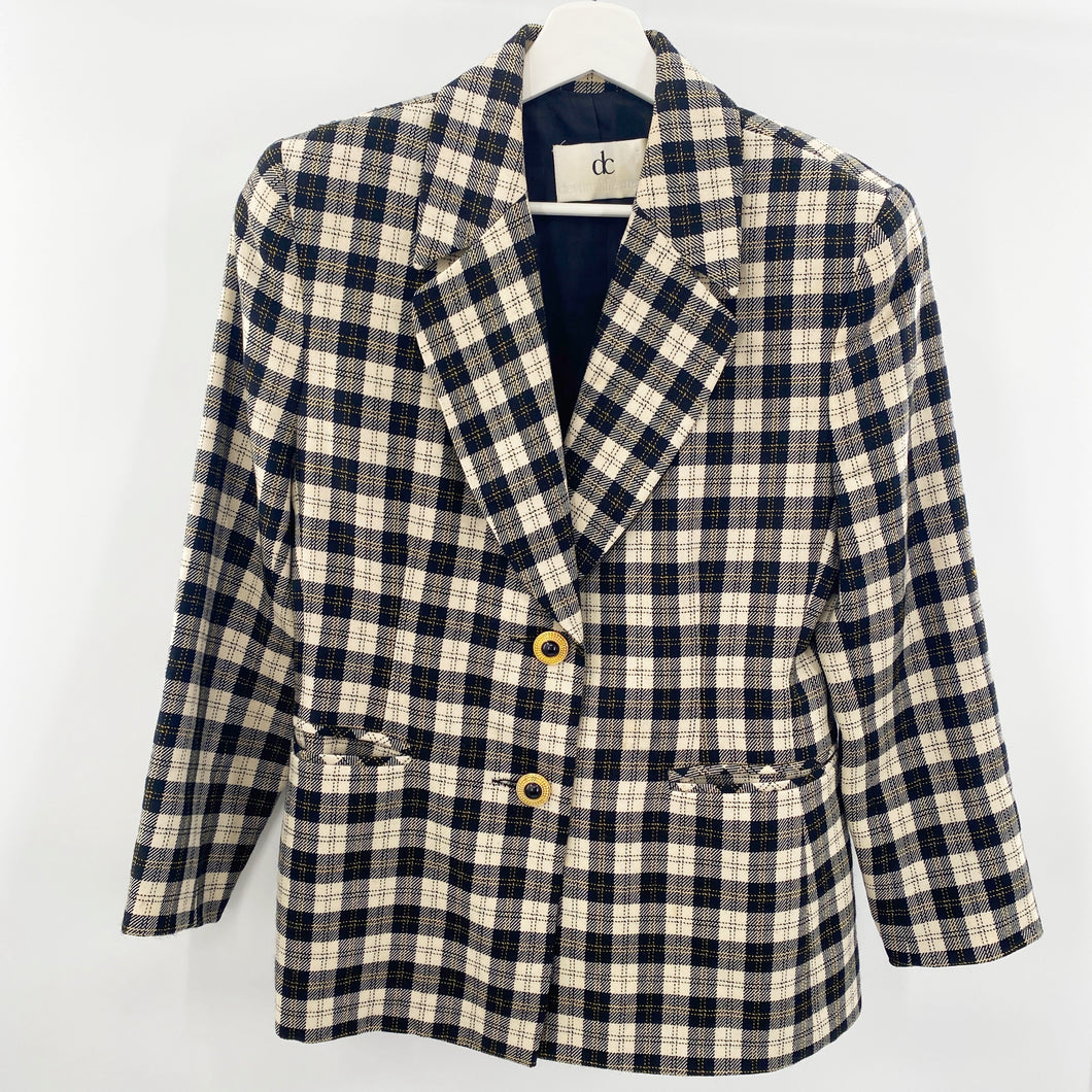 Devonshire Cream Plaid Blazer