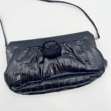 Load image into Gallery viewer, Black Eel Skin Purse