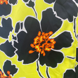 Black, Yellow and Floral All Over Dress