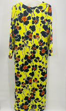 Load image into Gallery viewer, Black, Yellow and Floral All Over Dress