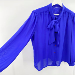 Blue Bow Blouse