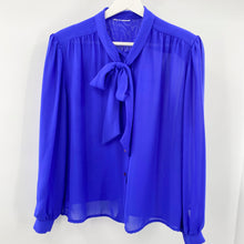 Load image into Gallery viewer, Blue Bow Blouse