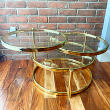 Load image into Gallery viewer, Brass 3 Tiered Cocktail Table