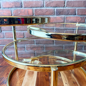 Brass 3 Tiered Cocktail Table