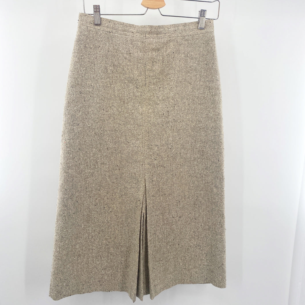 Oatmeal Tweed Skirt