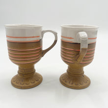 Load image into Gallery viewer, Stripe Pedestal Mugs
