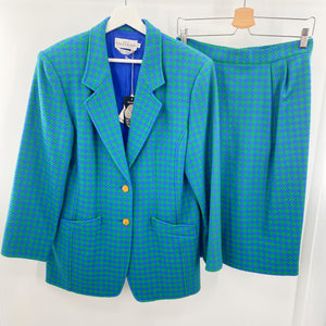 Ports Houndstooth Skirt Suit