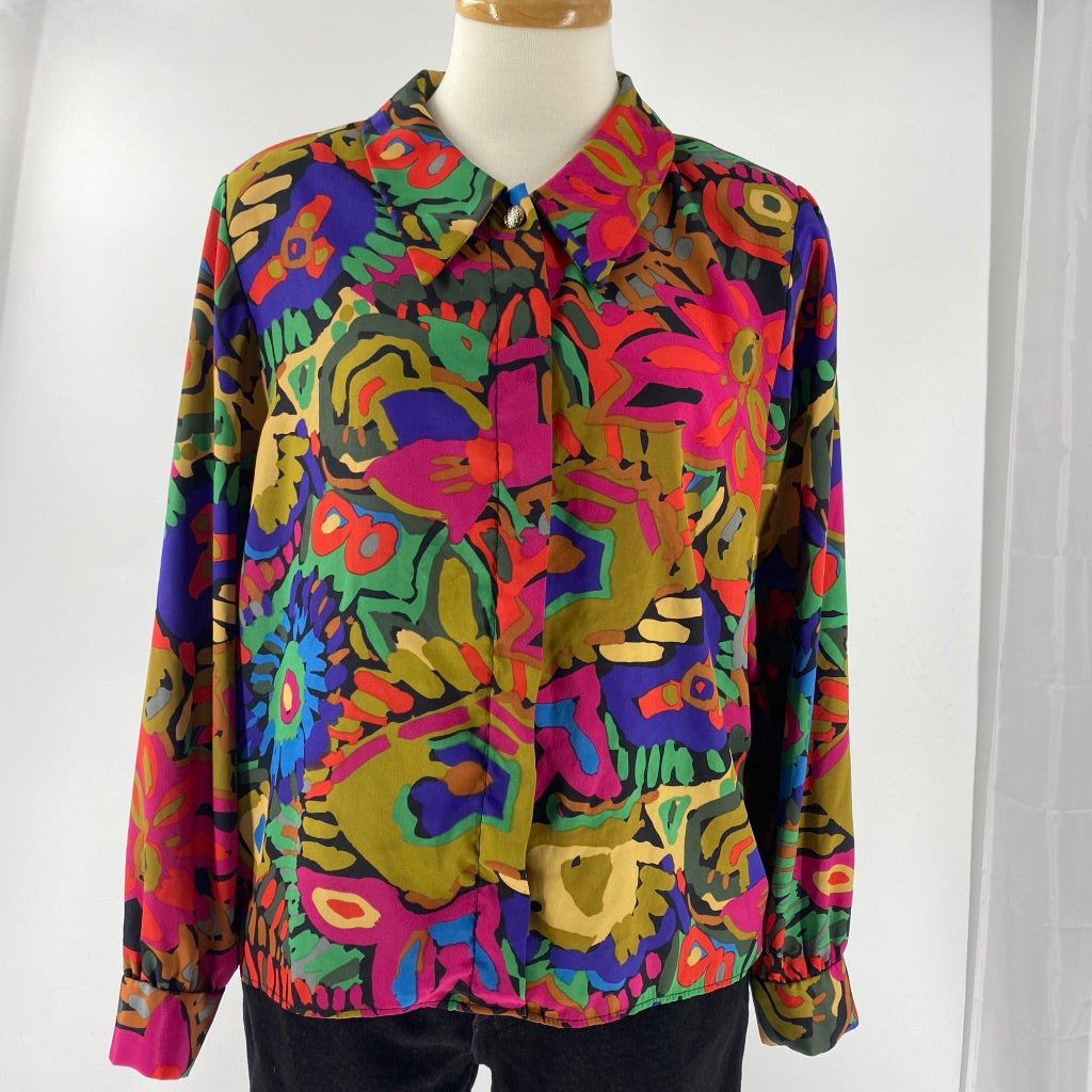 Brush Stroke Floral Blouse