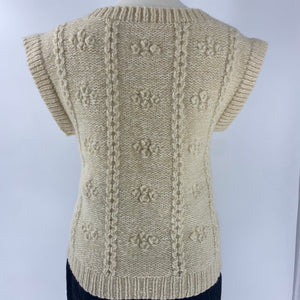 Cream Wool Sweater Vest