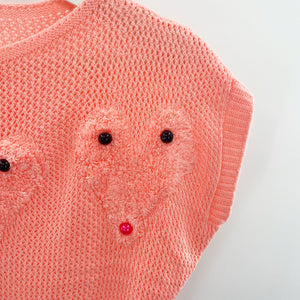 Fuzzy Hearts Sweater