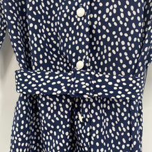 Load image into Gallery viewer, Navy Dot Dress