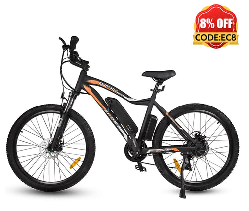 Ecotric Leopard Electric Mountain Bike - Matt Black Ecotric