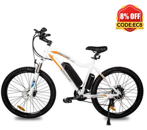 Ecotric Leopard Electric Mountain Bike - White Ecotric