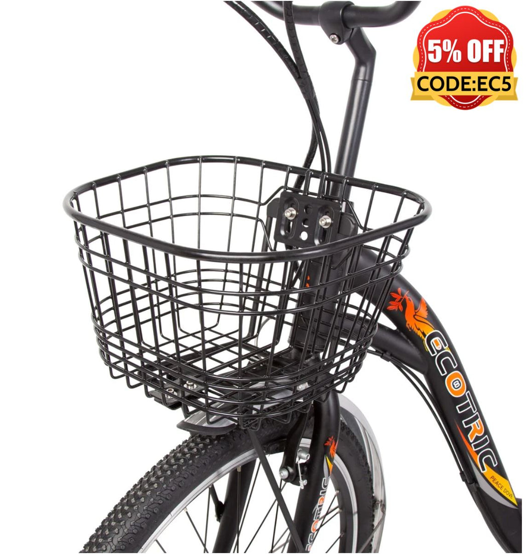 Ecotric Peacedove black electric city bike Ecotric