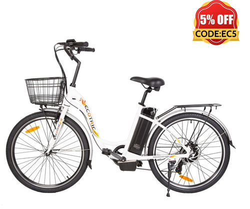 Ecotric Peacedove white electric city bike Ecotric
