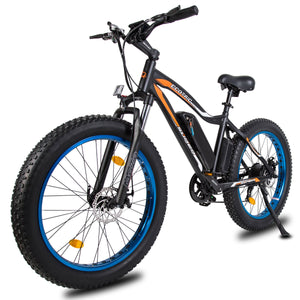Ecotric Rocket Fat Tire Beach Snow Electric Bike - Blue Ecotric