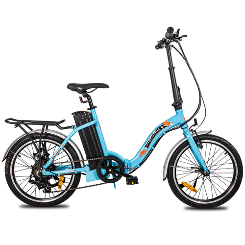 Ecotric Starfish 20inch portable and folding electric bike - Blue Ecotric
