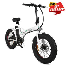 Load image into Gallery viewer, Ecotric White Fat Tire Portable and Folding Electric Bike Ecotric