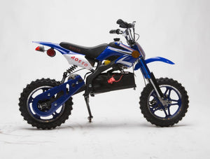 IN STOCK 36v 1000 Electric Dirt Bike - ONYX DIRT BIKE Gva Brands Blue