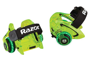 Jetts DLX Heel Wheels Razor Neon Green