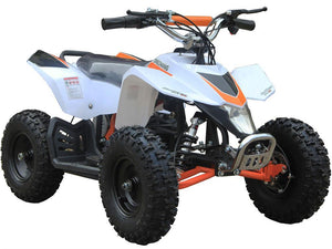 MotoTec 24v Kids ATV v3 Big Toys USA White