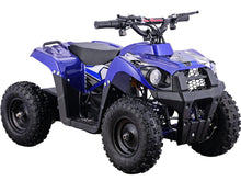 Load image into Gallery viewer, MotoTec 36v 500w Kids ATV Monster v6 Big Toys USA Blue