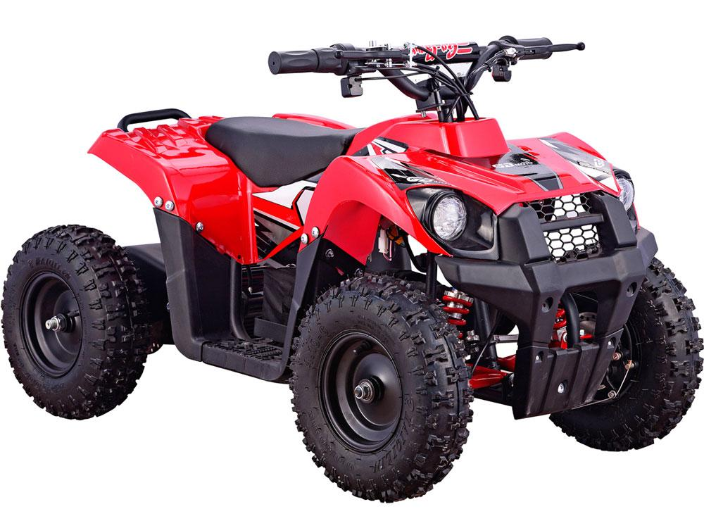 MotoTec 36v 500w Kids ATV Monster v6 Big Toys USA Red