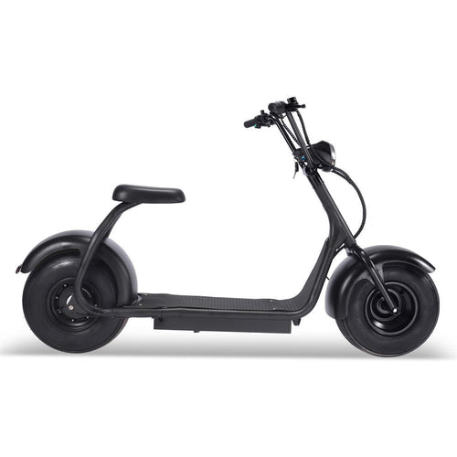 MotoTec Fat Tire 60v 18ah 2000w Lithium Electric Scooter Black Big Toys USA
