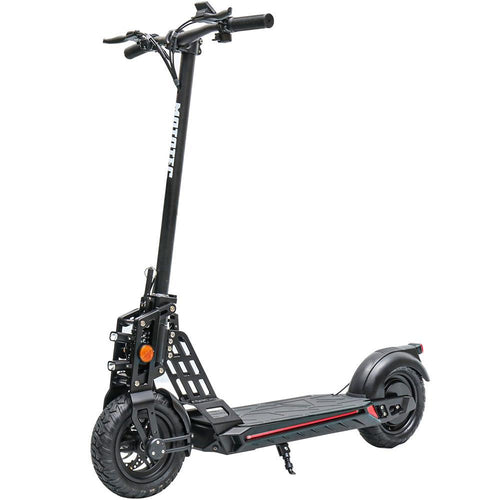 MotoTec Free Ride 48v 600w Lithium Electric Scooter wootscoot Black