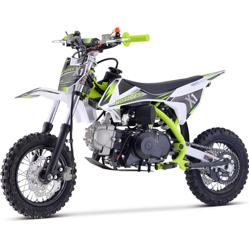 MotoTec X1 70cc 4-Stroke Gas Dirt Bike Green Big Toys USA