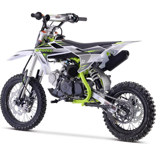 MotoTec X2 110cc 4-Stroke Gas Dirt Bike Green Big Toys USA