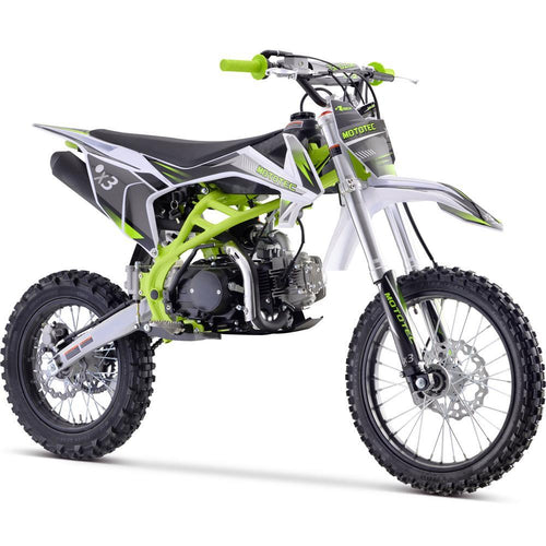 MotoTec X3 125cc 4-Stroke Gas Dirt Bike Green Big Toys USA