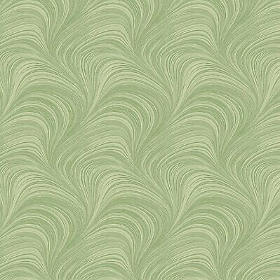 Extra Wide BACKING Fabric 'Pearlescent Wave' Green