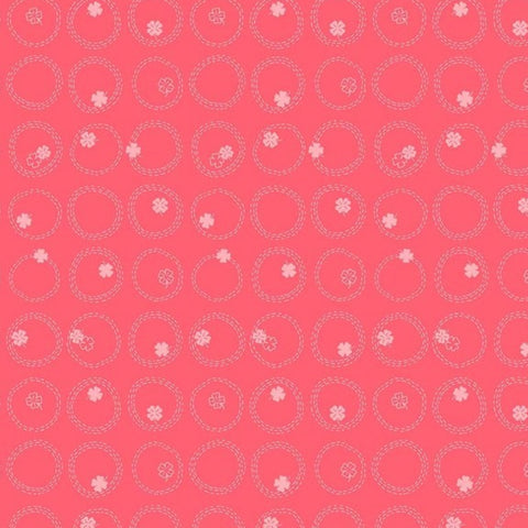 'Lucky Charms' by FIGO Fabrics - Clover, Watermelon