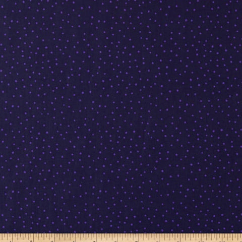 'Floral' by FIGO Fabrics - Dots, Dark Purple