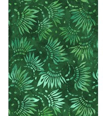 Extra Wide BACKING Fabric 'Wilmington Essentials' Petals, Green