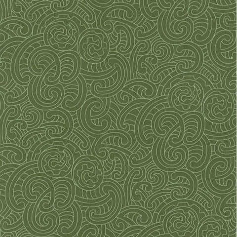 Extra Wide BACKING Fabric 'Ponga Koru'