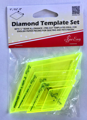 "'Sew Easy' Diamond Template Set - 1"", 1 1/2"", 2"""
