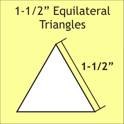 "Paper Pieces  1 1/2"" Equilateral Triangle Papers"