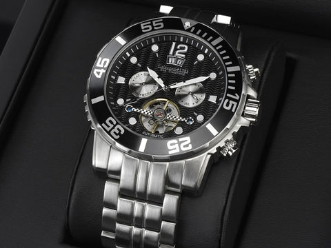 Calvaneo 1583 Sea Command Stahl BLACK automatik sat