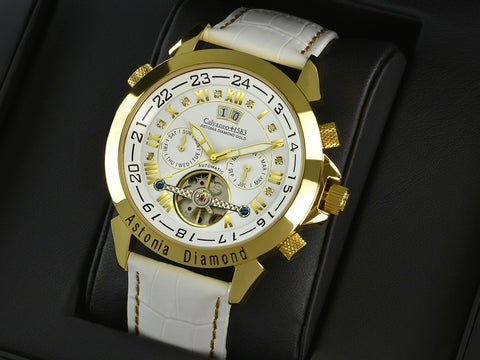 Calvaneo 1583 Astonia SNOW DIAMOND Gold automatik sat