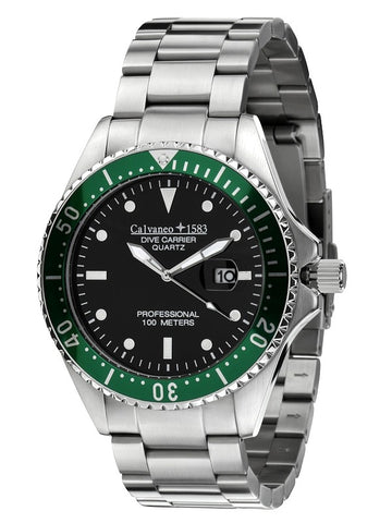 Calvaneo 1583 Dive Carrier Cliff Green 46mm