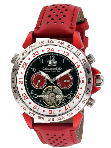 "Calvaneo 1583 Astonia Project ""RED ALUMINIUM Edition"" automatik sat"