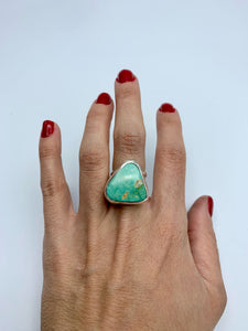 Natural Turquoise & Silver Ring