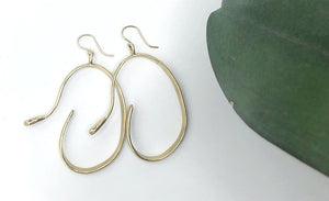 Serpent Hoop in Brass