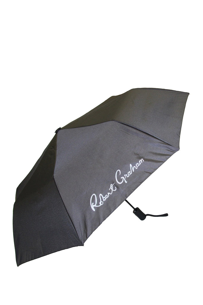 Robert Graham Moris Black Skull Umbrella