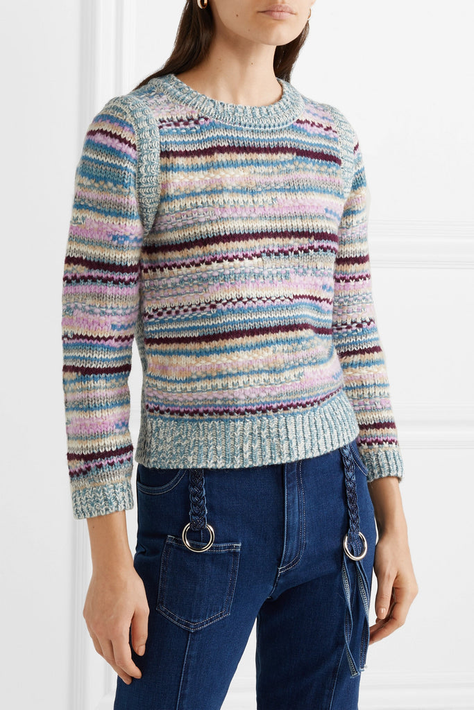 See By Chloe Striped knitted Pullover Sweater