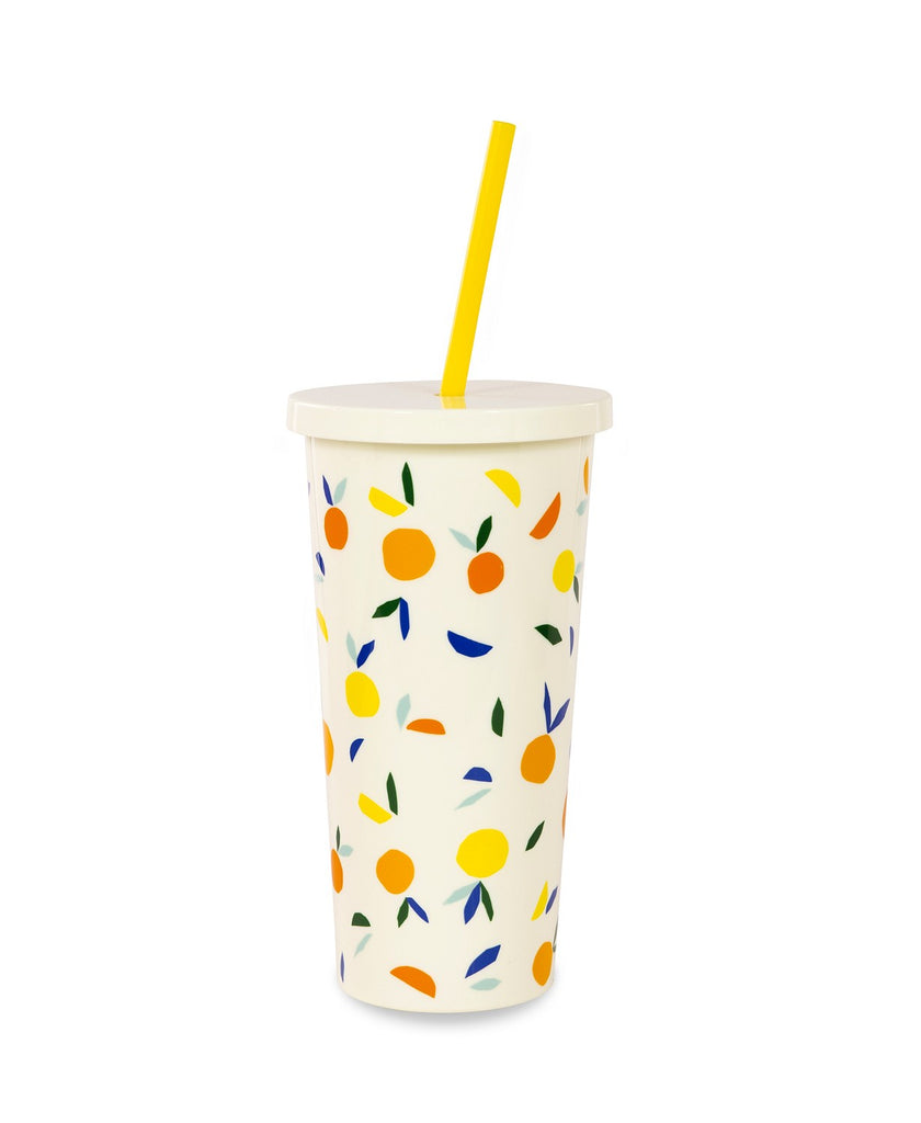 Kate Spade New York Citrus Twist Tumbler with Straw