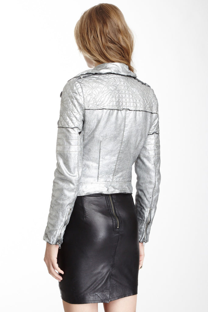 Muubaa Minsk Quilted Leather Biker Jacket