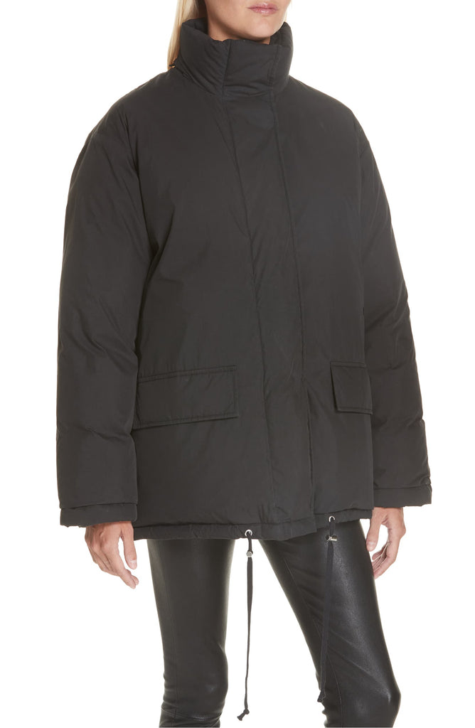 Helmut Lang Removable Hood Cotton Puffer Jacket